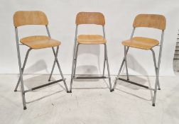 Three folding bar stools(3)