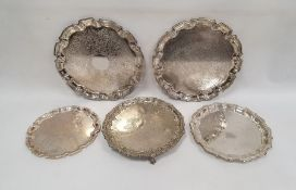 Quantity of silver plated trays, salversanda quantity of knife rests, etc.