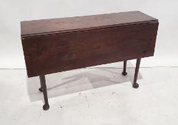 19th century drop-leaf tableof rectangular form, turned legs to pad feet, 120.5cm long