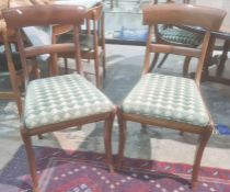 Set of six 19th century bar back dining chairs with drop in seats ( covered in Zoffany fabric)