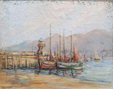 H. Bennett (20th century) Oil on canvas 'St. Ives' Signed lower left 39.5cm x 49.5cm