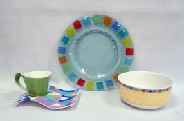 Villeroy & Boch porcelain cup and  saucer plate, Luxembourg pattern, a Villeroy & Boch china fruit