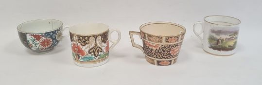 Collection of English porcelain tea wares, circa 1775 and later, comprising a Worcester Japan