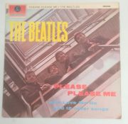 The Beatles 'Please Please Me', 1963, Mono, black and yellow Parlphone label PMC 1202 xex 422-2n xex