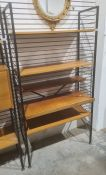Ladderax unitconsisting of pair of uprights and assorted shelves Condition ReportHeight approx