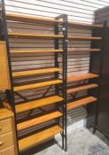 Two Ladderax shelving units, each 63cm wide (2) Condition ReportNumerous surface scratches,