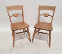 Set of eight 20th century beech framed dining chairs(8)