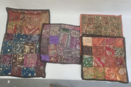 Five Indian-style cushion covers(5)