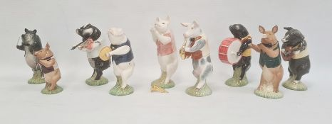 Collection of Keswick orchestral pig models including 'Matthew Pig' PP2, 'Pig Prom' PP6, '