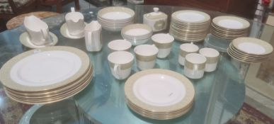 Royal Doulton 'Sonnet' pattern part dinner and tea service, 20th century, printed grey marks