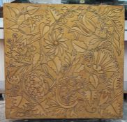 Arts & Crafts/ Aesthetic Movementpainting on canvas screen, circa 1880, William Morris-style floral