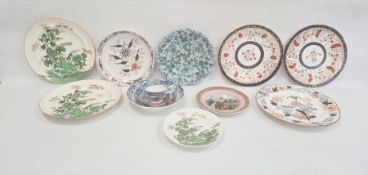 Collection of English pottery and porcelain, 1820 and later, printed and painted marks, including