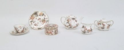 Group of CoalportImari pattern doll's tea set chinacomprising two teapots and covers, a milk