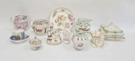 Group of Continental and English pottery and porcelain, 18th century and later, including a
