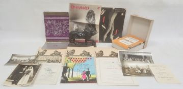 Quantity late 1940's and early '50's theatre programmes to include Palladium, Finsbury Park,