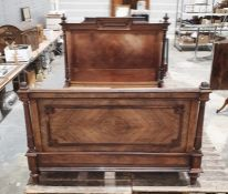 """19th century rosewood double bed frame, the interior width approx 52.5"""" Condition ReportInterior"""