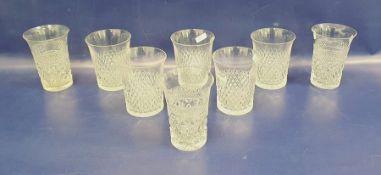 Waterford cut glass part table serviceviz:- six tumblers, seven stem wines, four smaller stem