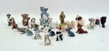 Collection of porcelain small models and animalsto include a Beswick model of a koala, a Royal