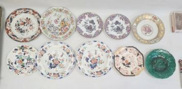 Collection of Staffordshire Ironstone pottery and porcelain, early to late 19th century, printed and