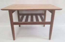 1960's/70's G-Plan coffee table, rectangular with undershelf, 70cm wide