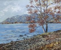 Gerald Hodgson (20th century) Oil on board 'Derwent Water', signed lower right,50cm x 60cm
