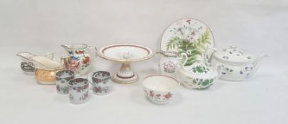 Collection of English pottery and porcelain, late 18th to mid 19th century, printed and painted
