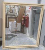 Modern rectangular mirrorin cream-coloured frame Condition Report Approx. Dimensions: 107cm x 92cm