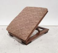 Adjustable stool with fabric top, folding base