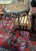Modern metaland woven topped aspidistrastand of circular form