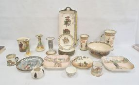 Collection of Royal Doulton, variously printed including Dickensware dishes, two Under the Greenwood