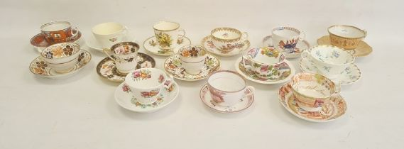 Worcester 'Flight Barr & Barr' cup and saucer, circa 1815, impressed marks with apricot-coloured