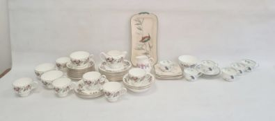 Royal Doulton Kingfisher pattern composite part tea service, printed green marks, registration no.