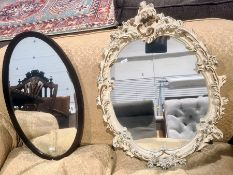Two oval mirrors (2)