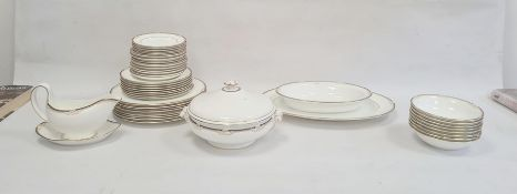 Wedgwood Cavendish pattern part dinner service, 20th century, printed marks, printed with ochre