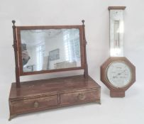 20th century oak cased banjo barometer, the dial marked 'Pleasance & Harper Ltd, Gloucester' and