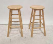 Pair of beech stools(2)