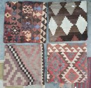 Four assorted cushion covers(4)