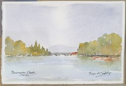 Bryan A Thatcher (20th century) Watercolours Nine unframed, of mainly Welsh and Devon scenes,