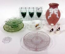 Chodziez Polish part tea service, decorative model animals, glassware, china items, etc (3 boxes)