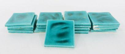 17 ceramic tiles, turquoise (1 box)