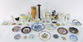 Assorted collectables and ceramicsto include vase, mini camper van marked with a Welsh dragon,