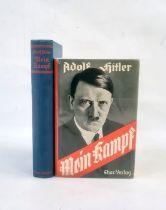 """Hitler, Adolf """" Mein Kampf"""" Munchen 1938, German Edition, frontis portrait, black cloth with"""