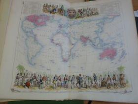 "Fullarton A "" Companion Atlas to the Gazetteer of the World"" [1860] , Subscribers' Edition, original"