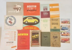Classic Car Motoring Interest - Miscellaneous sales and advertising brochures to include Austin
