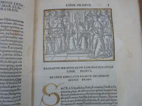 "Piccolomini "" Rituum Ecclesiasticorum"" (1516) Three books bound as one. woodcut headers to each"
