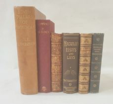 Assorted volumes, including T.E. Lawrence 'Seven Pillars of Wisdom', 'By his friends', 'Goldsmith'