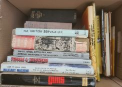 """Militaria, two boxes of books on the subject of war, to include Mano Ziegler """"Hitler's Jet Plane"""","""