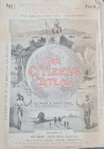 """Bartholomew, J G """"The Citizen's Atlas"""", published by George Newnes in its 20 original parts, with"""