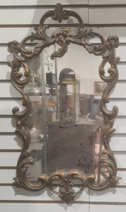 Modern mirrorin the rococo taste with moulded frame, 70cm x 37.5cm