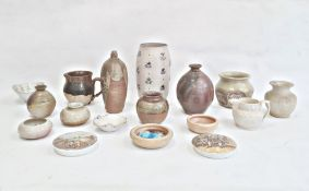 Ewenny pottery small bowl, quantity other studio pottery ceramicsto include vases and jugs and